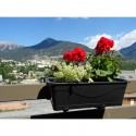 3 JARDIFIX planter holders + 3 planters, adaptable to balconies, barriers and walls