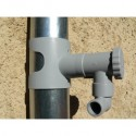 CAPT'EAU RAINWATER COLLECTION KIT FOR GREY COLOURED ROUND DUCT + 1M FLEXIBLE HOSE